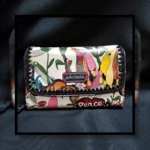SakRoots Large Zip-Around & Trifold Wallet